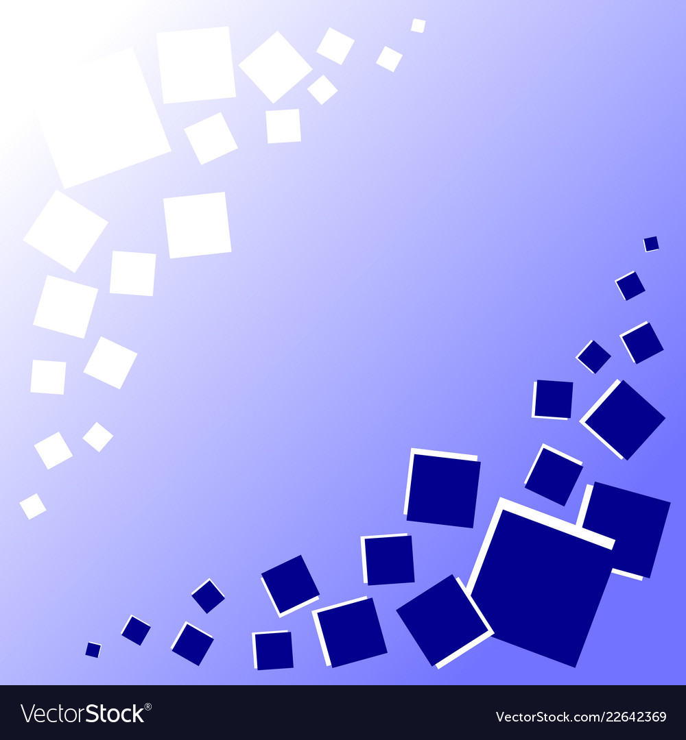 Blue background with blue and white squares