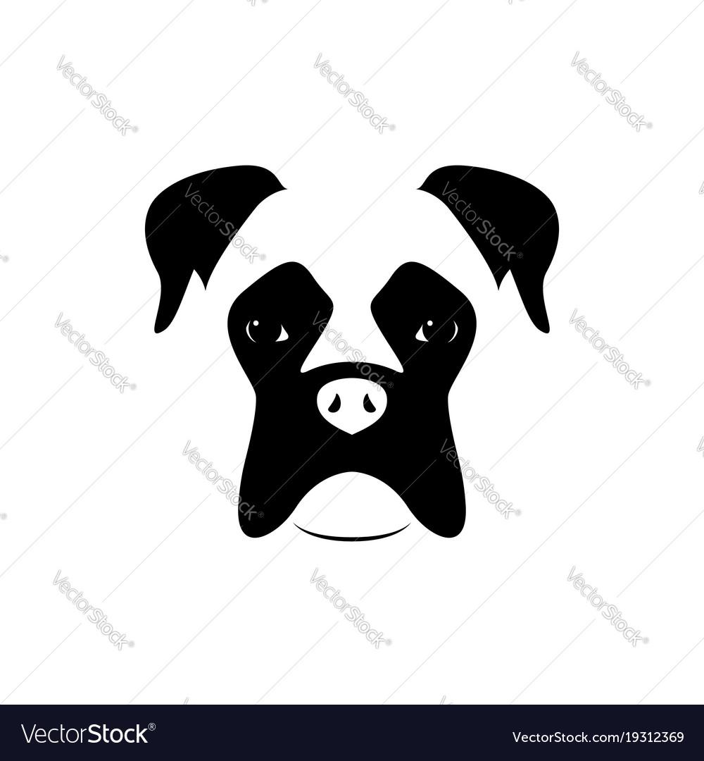 Boxer dog muzzle black and white