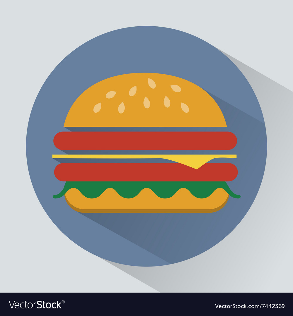 Cheeseburger with ham and salad leaves icon