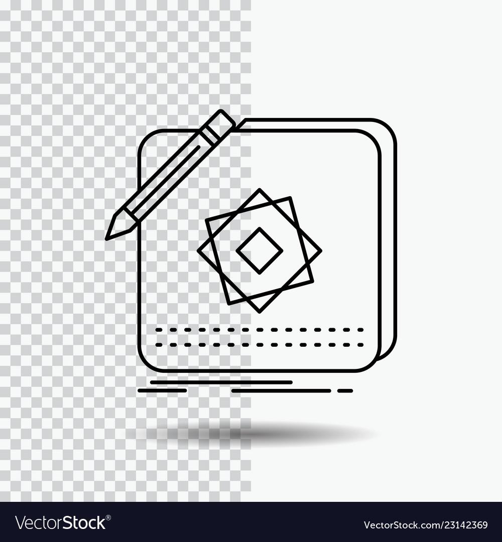 Design app logo application design line icon on