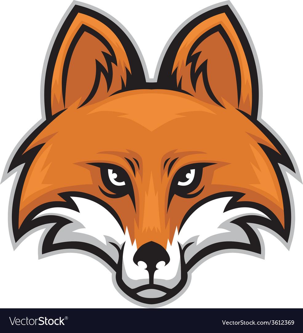 Fox Head Royalty Free Vector Image Vectorstock