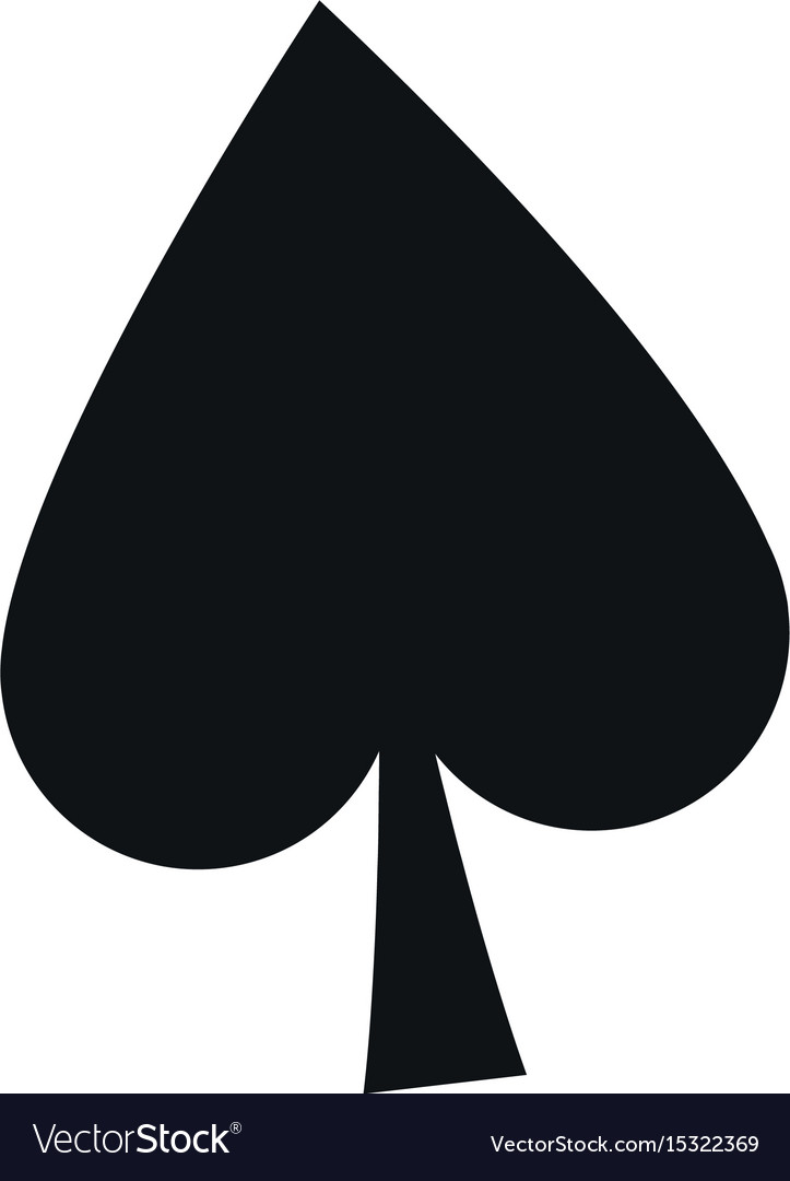 spade card sign  Poker card sign spade ace play icon