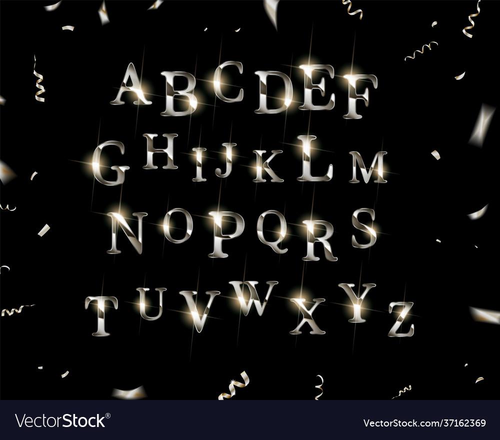 Silver english alphabet