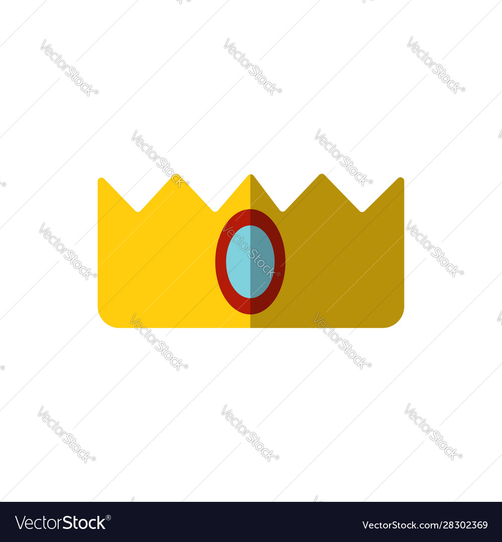 Simple crown icon isolated on white