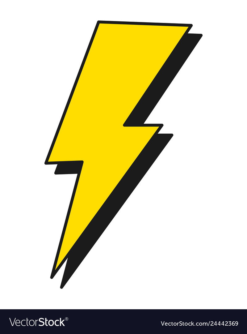 thunder energy cartoon royalty free vector image vectorstock