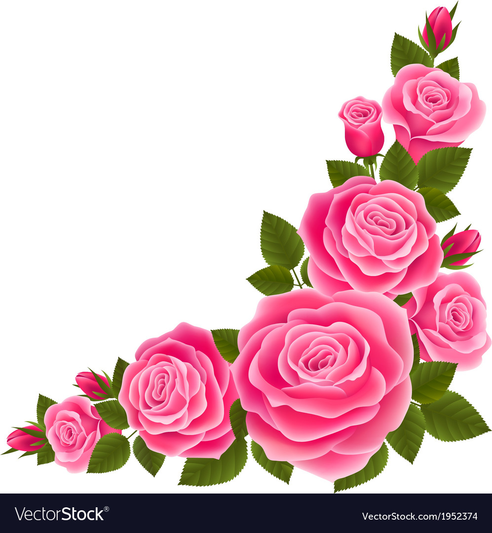 border of roses royalty free vector image vectorstock rh vectorstock com rose vector art rose vector free download