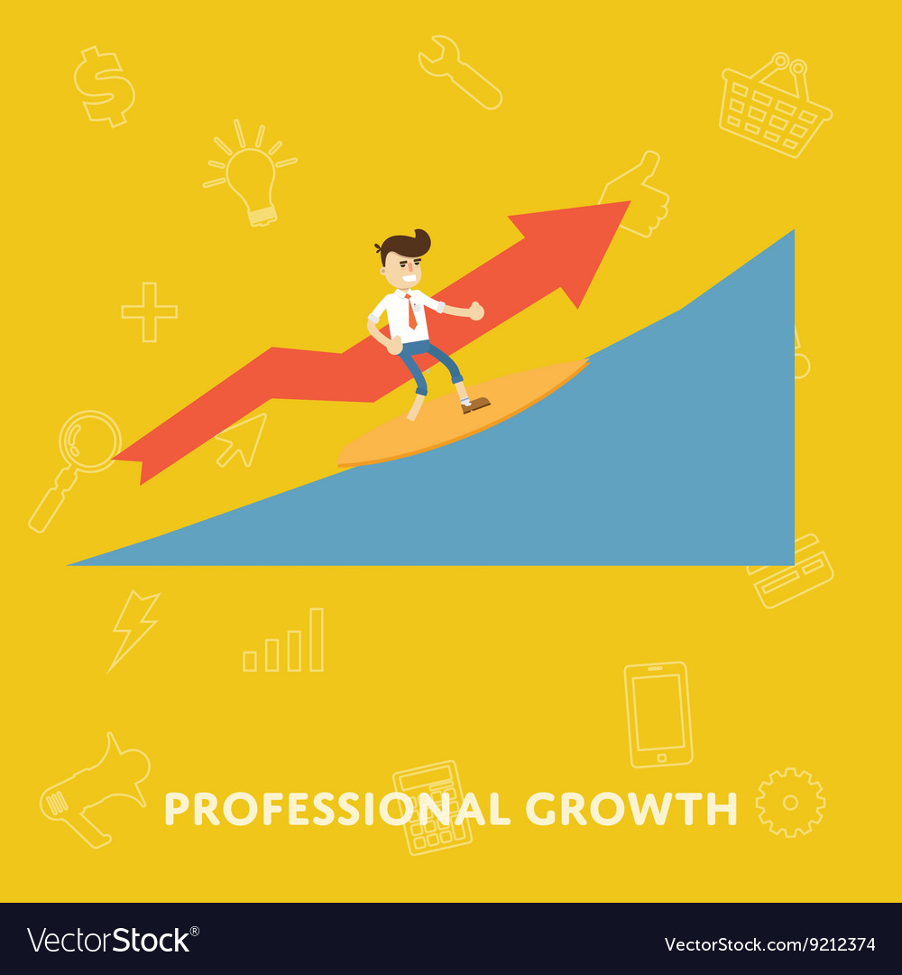 Improving the corporate ladder professional growth vector image