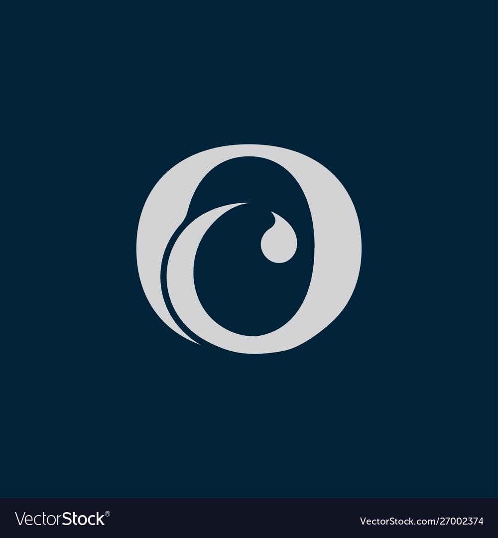 Letter o c icon logo