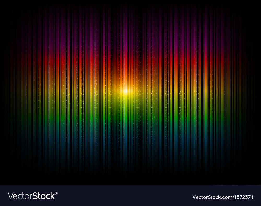 V horizontal lines abstract rainbow dark vector image