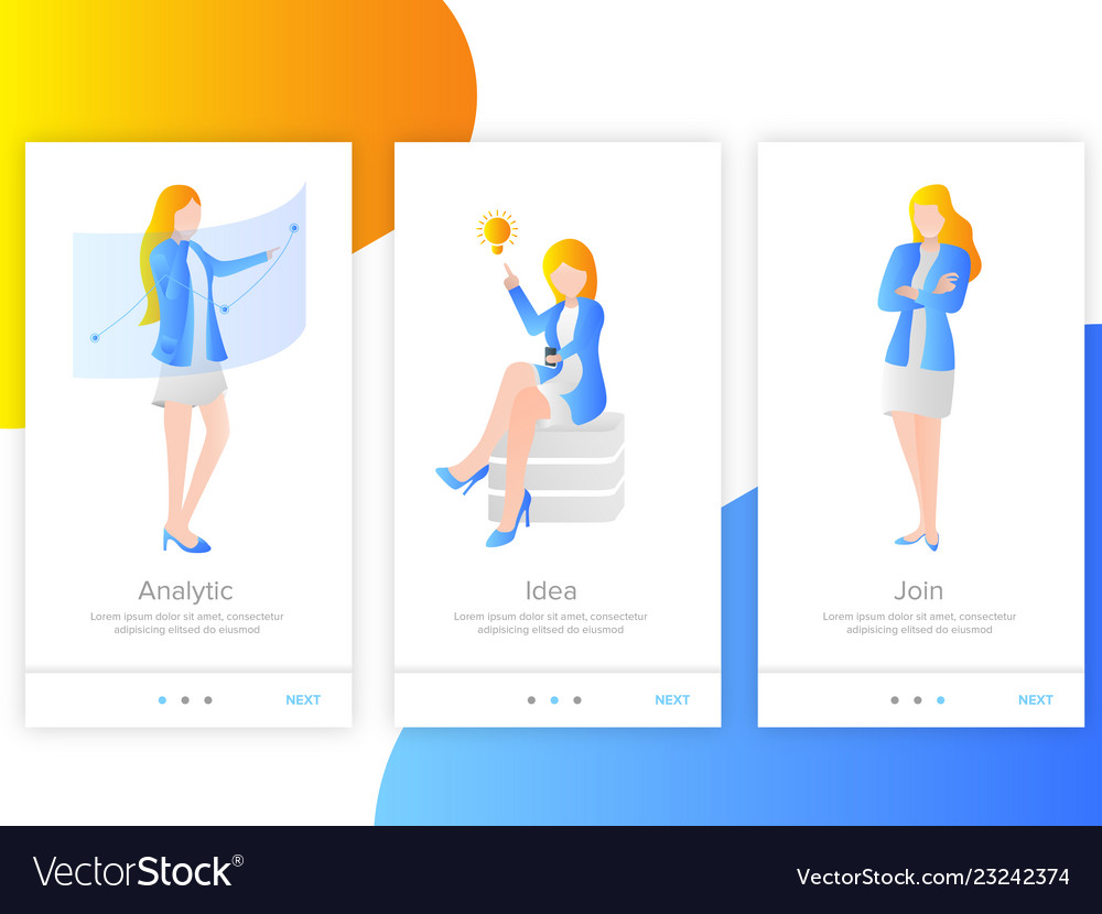 Women landing page for app