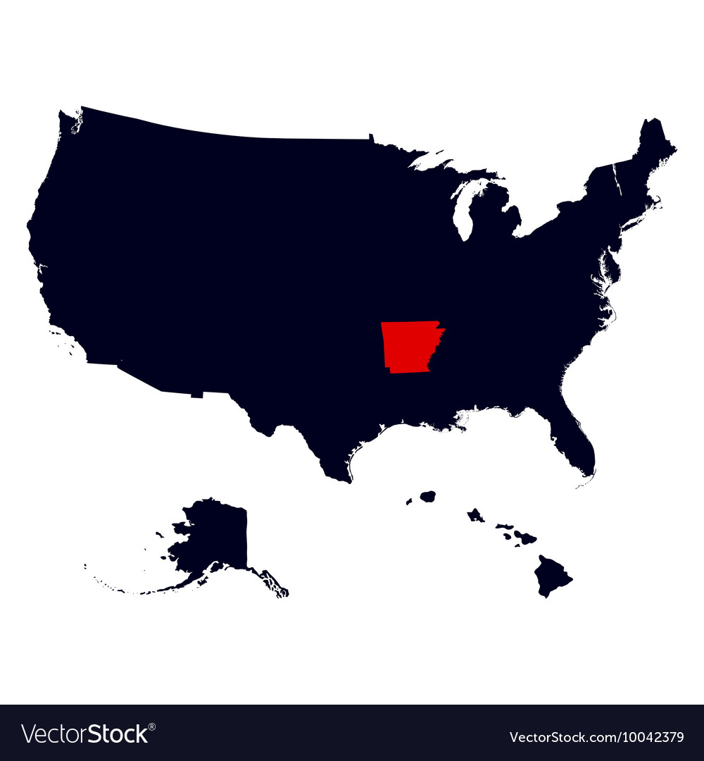 Arkansas State in the United States map