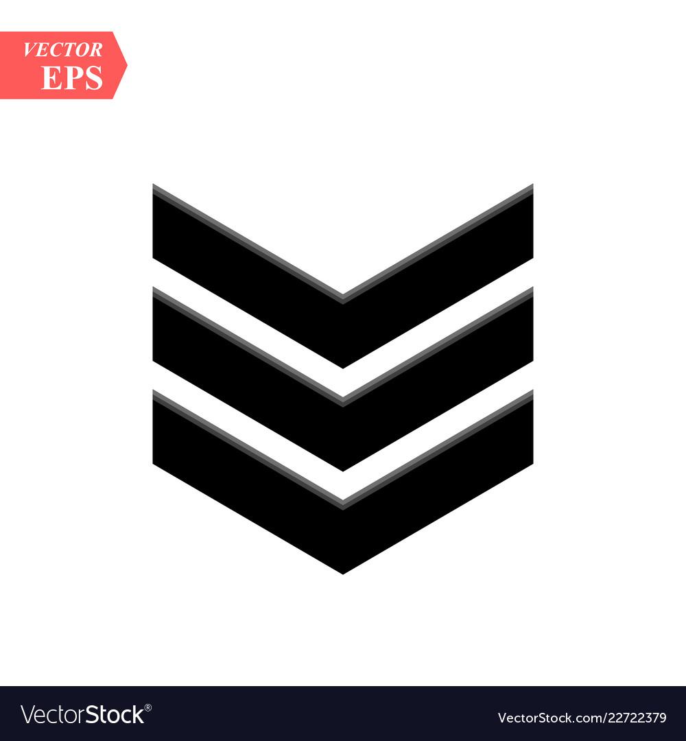 Chevron icon on white background flat vector image