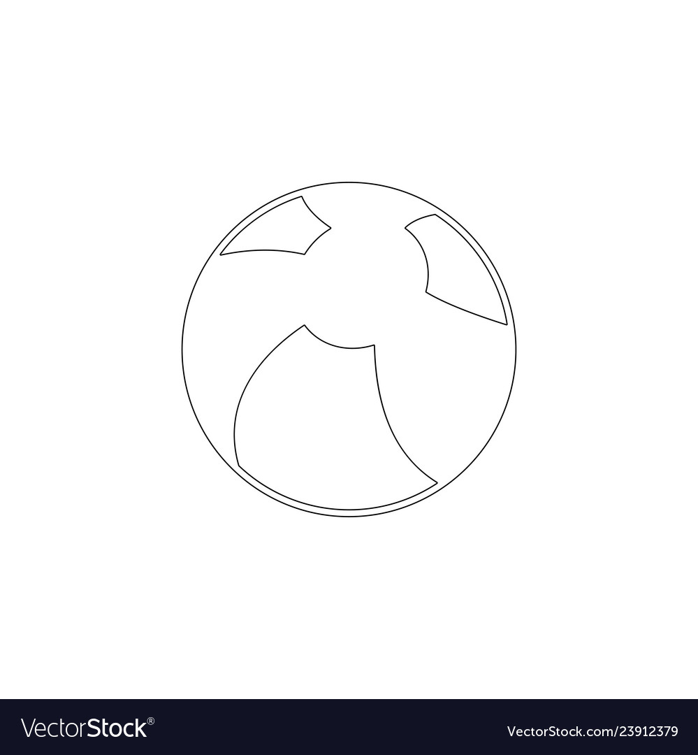 Children ball flat icon