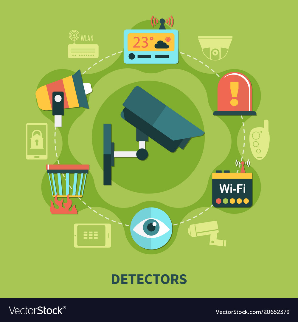 Detectors home security round composition