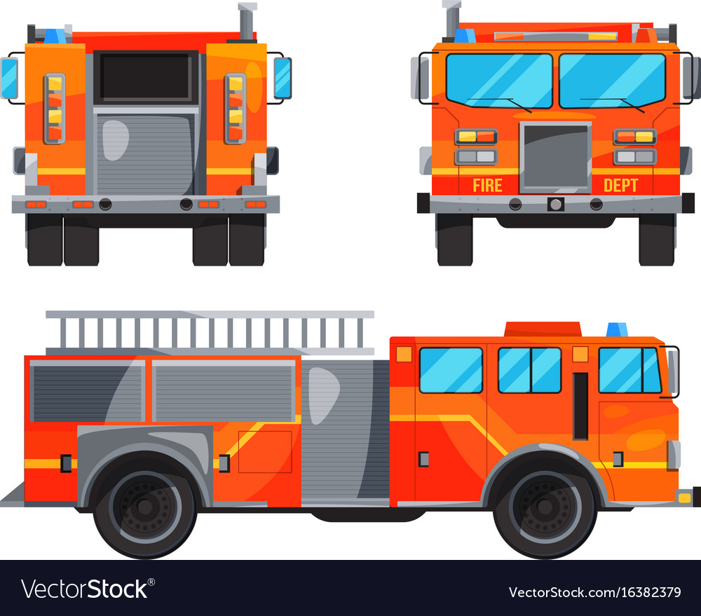 Different sides of fire truck specific