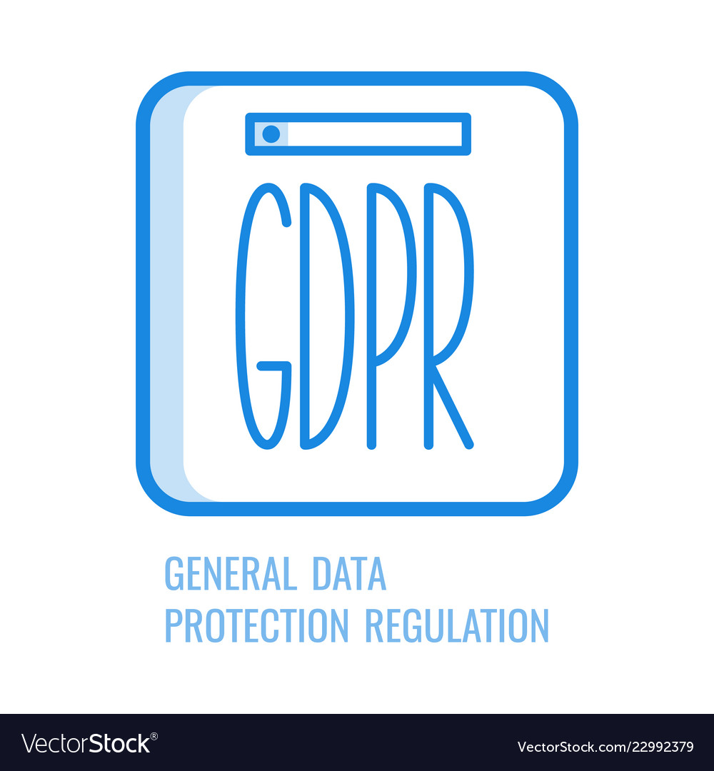 Gdpr line icon - general data protection