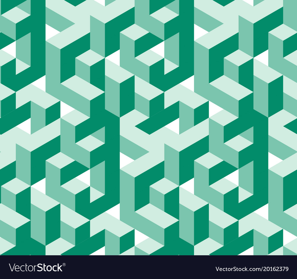 Isometric labirynth pattern