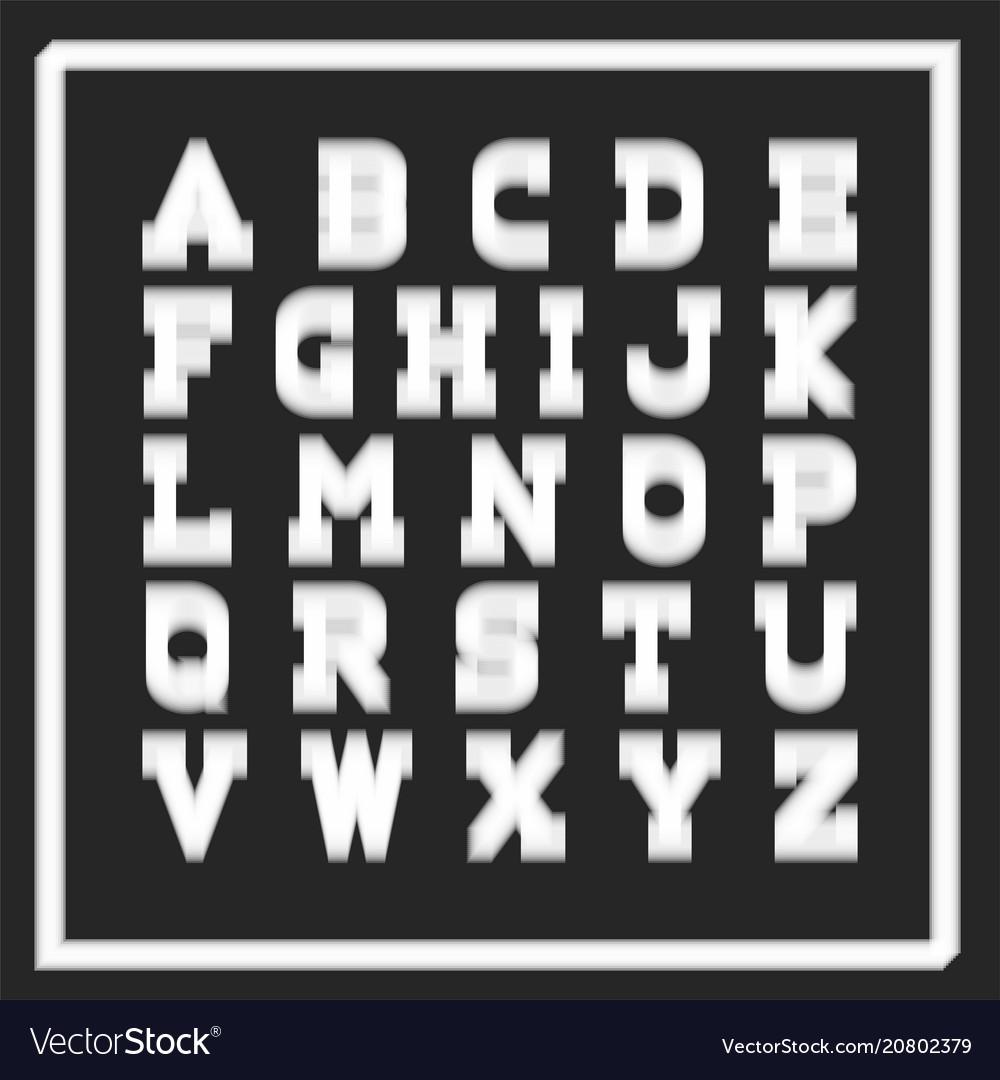 Stylish fontenglish alphabet latin