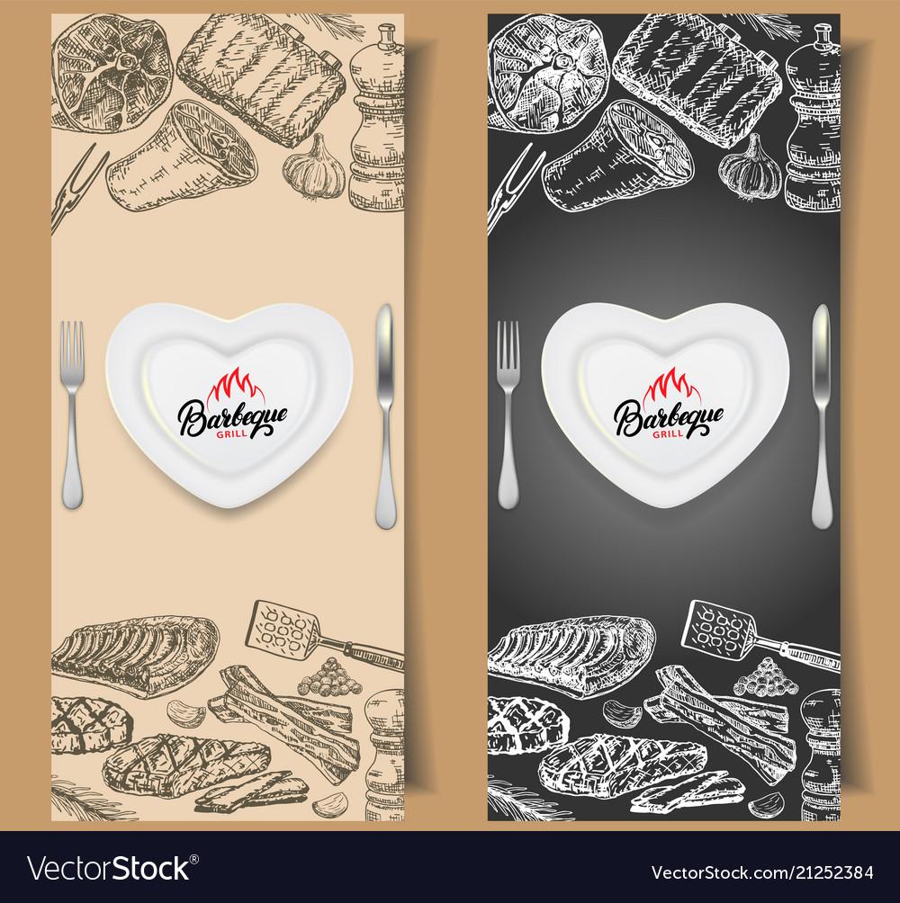Barbecue flyer design templates