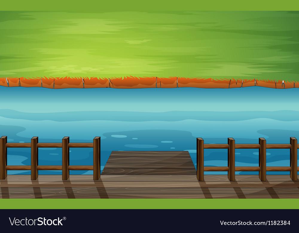 Cartoon River Dock