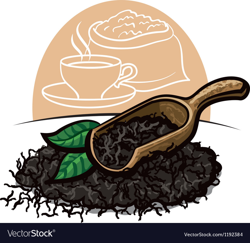 Dry black tea leaves royalty free vector image dry black tea leaves vector image thecheapjerseys Image collections
