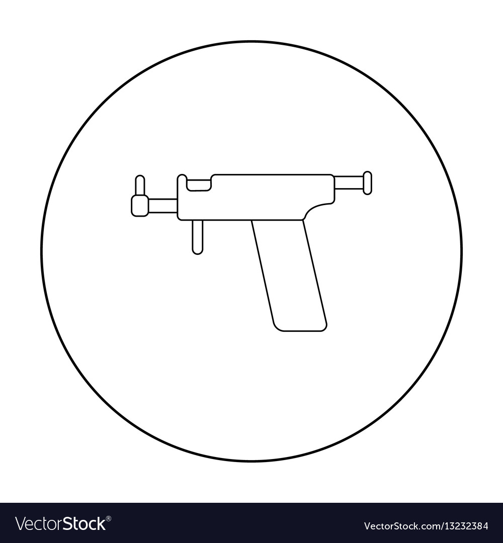 Ear piercing gun icon outline single tattoo icon
