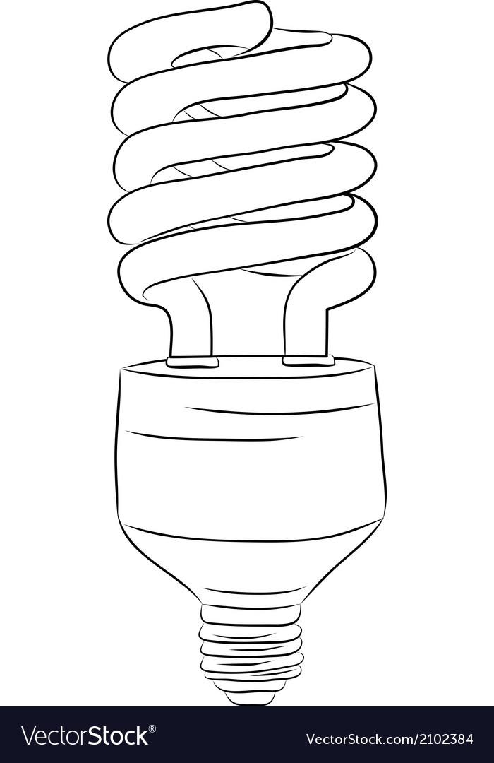 Hand-drawn lightbulb