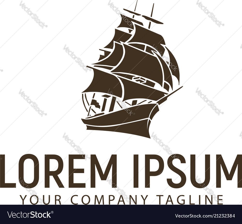 Ship logo design concept template