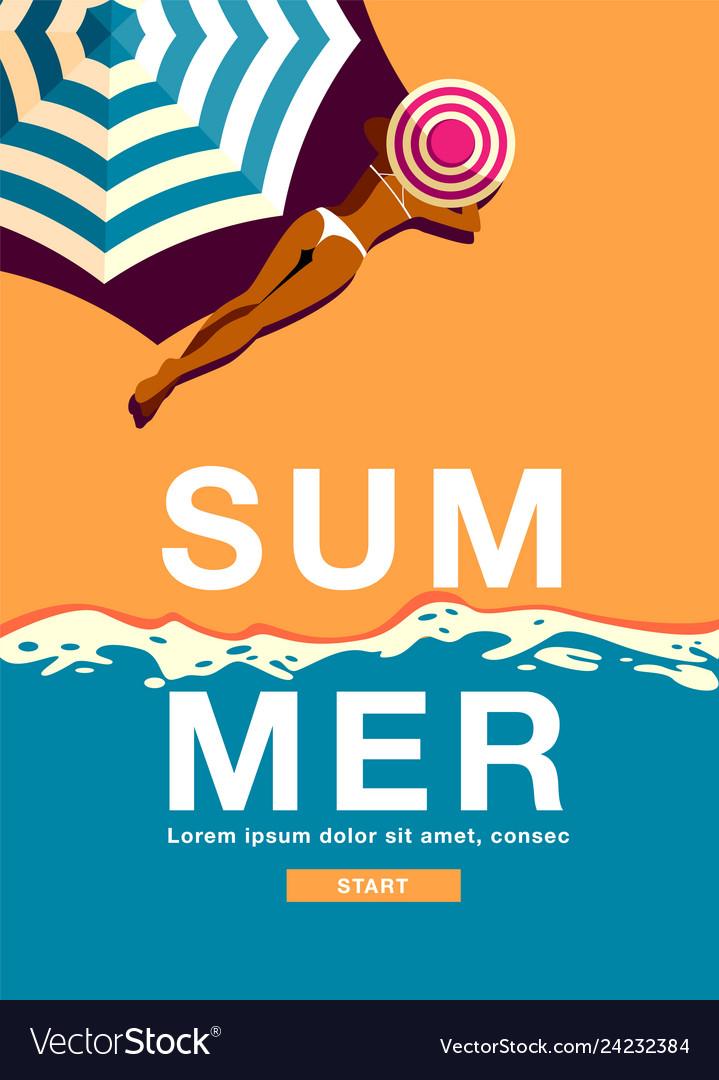 Summer holiday poster banner sunshine