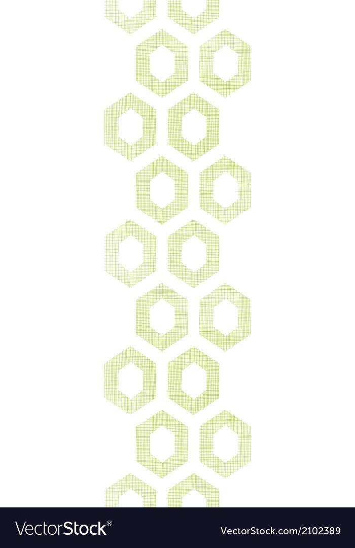 Abstract green fabric textured honeycomb cutout