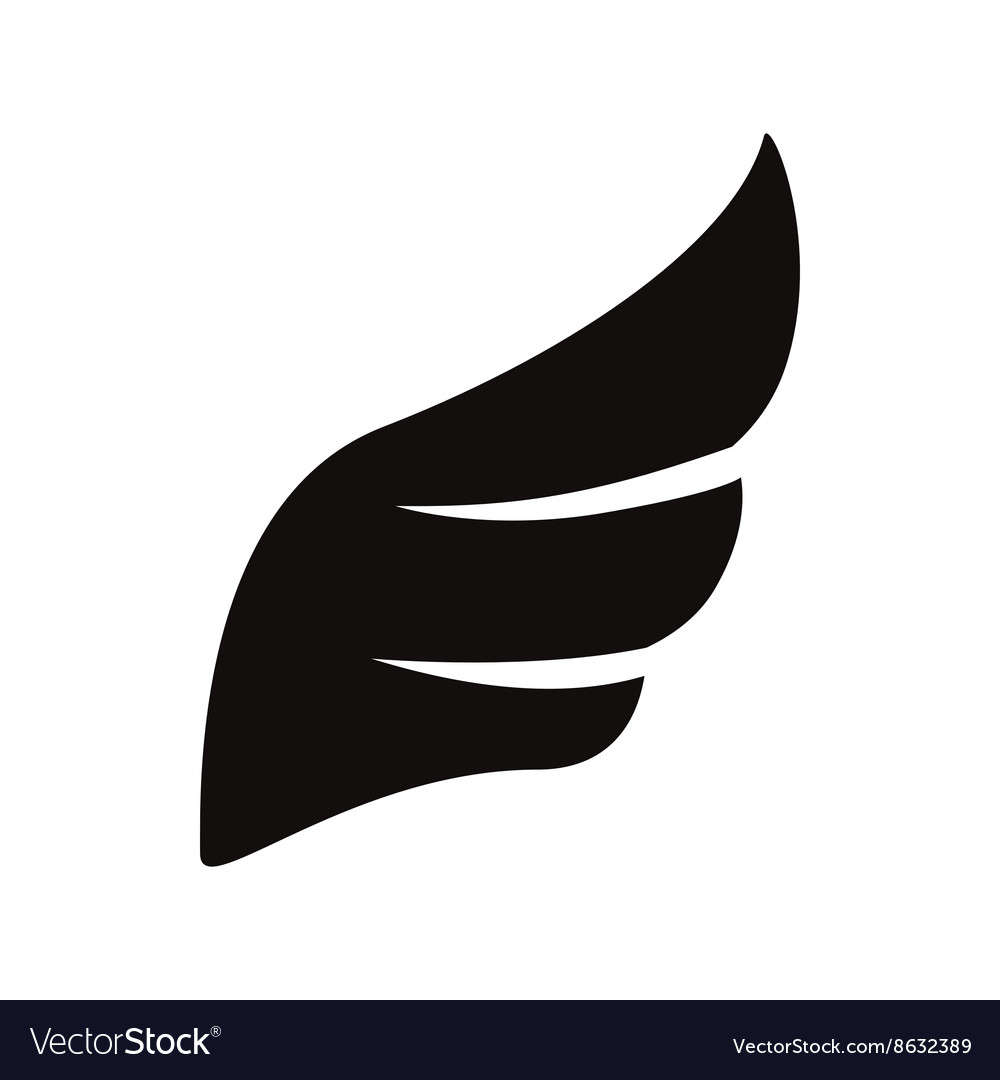 Black wing icon simple style