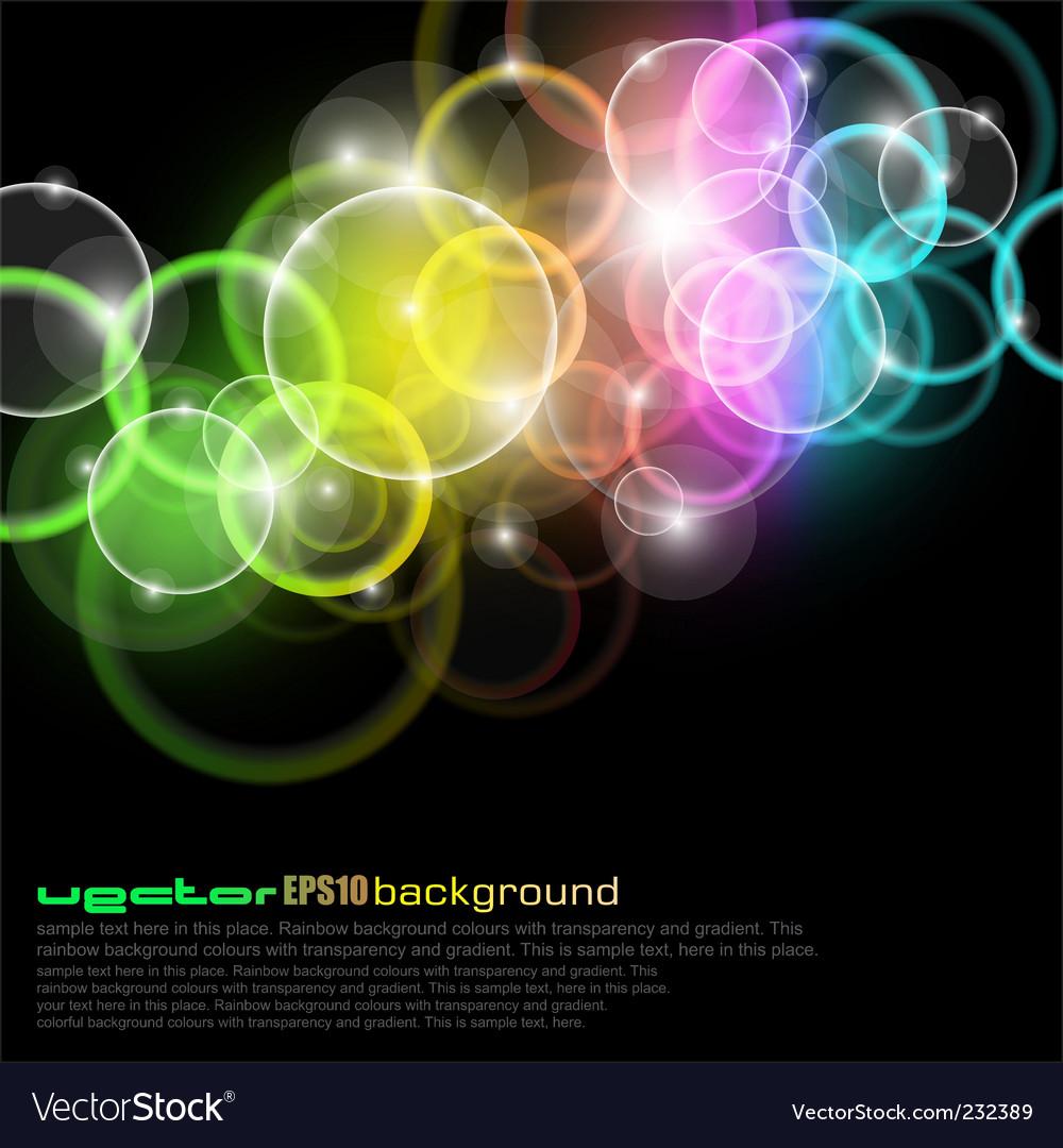 Bubble spectrum vector image