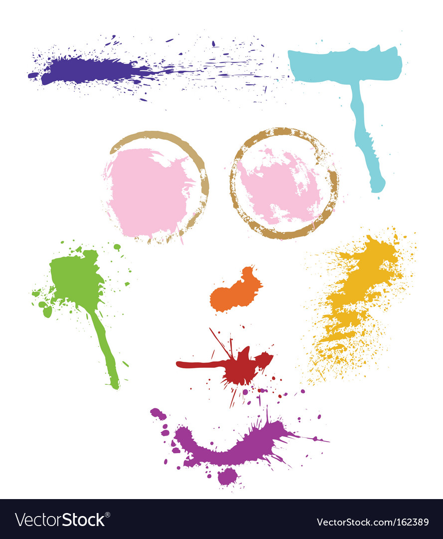 Colorful stains vector image