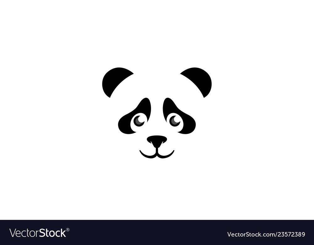 Creative panda head logo