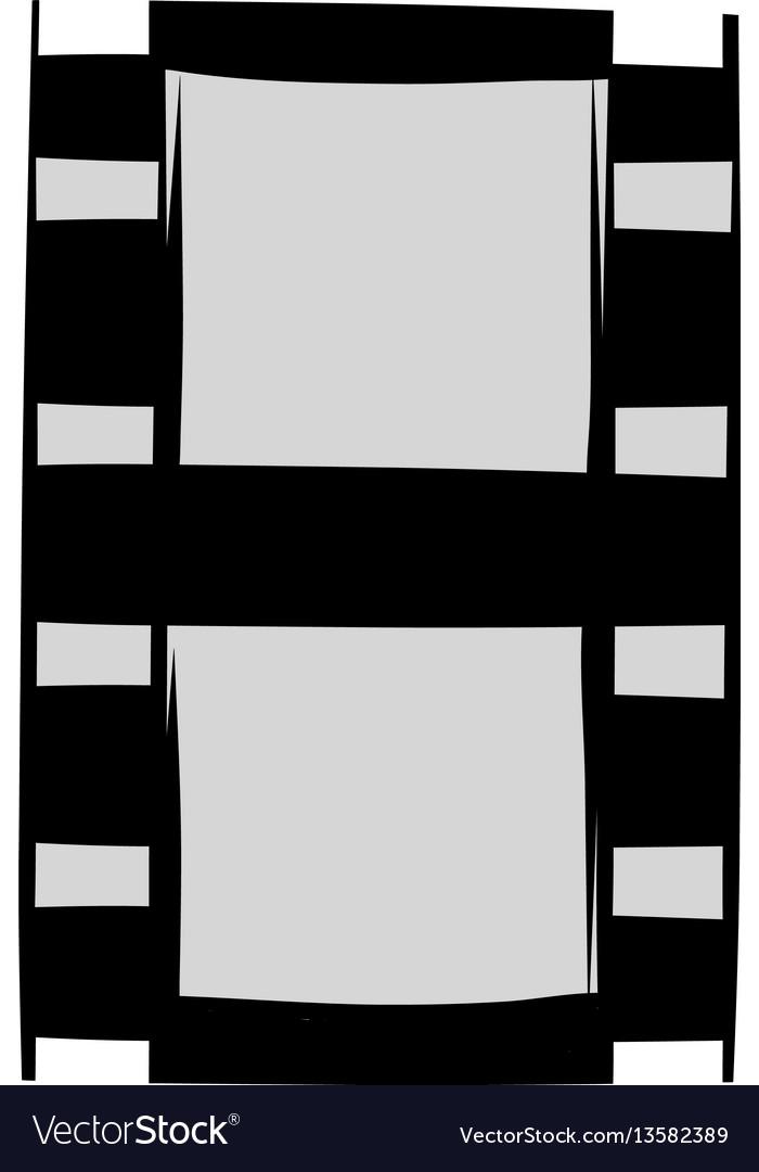 Film strip icon cartoon