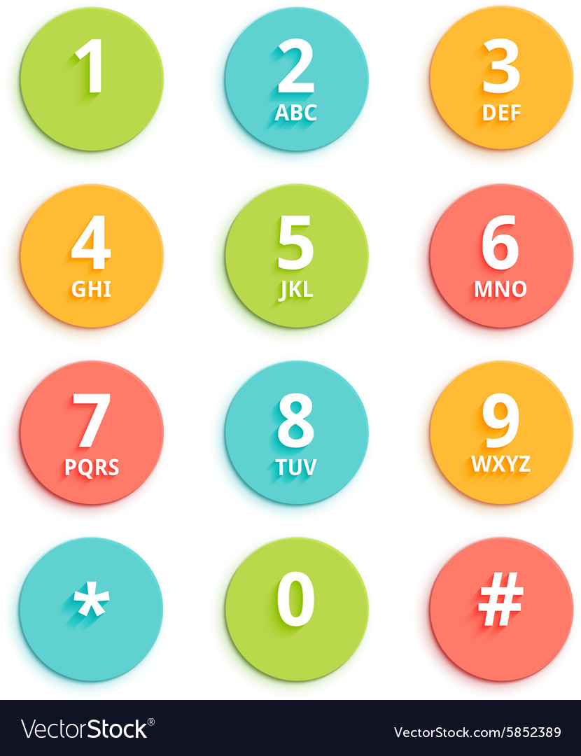 Flat colored keypad for phone
