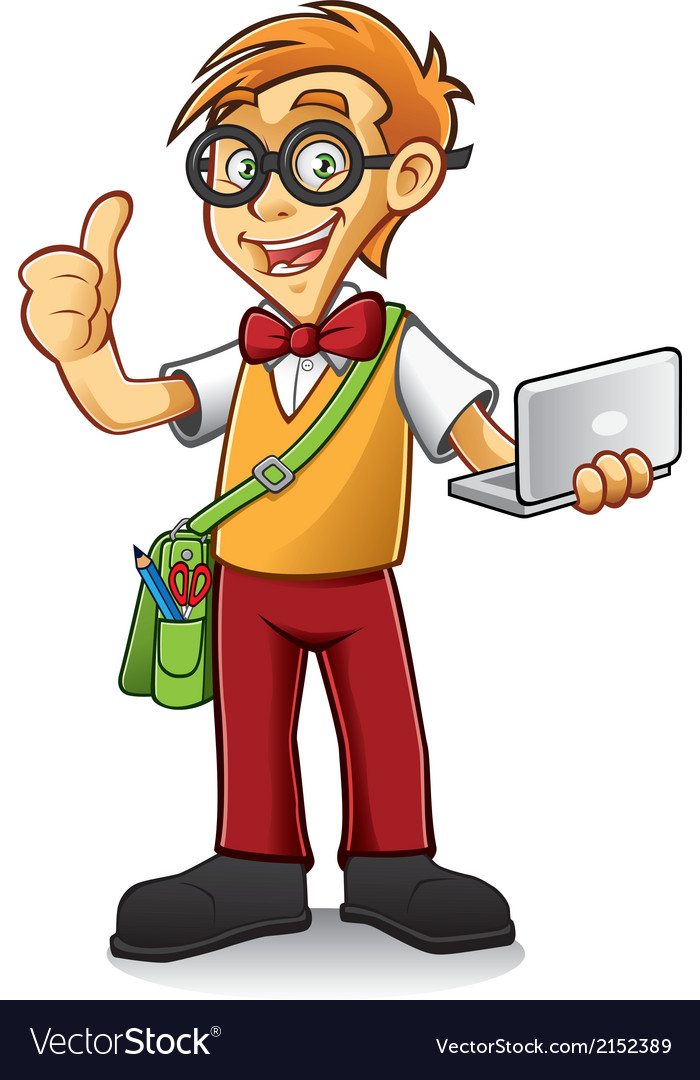 Geeky Boy vector image