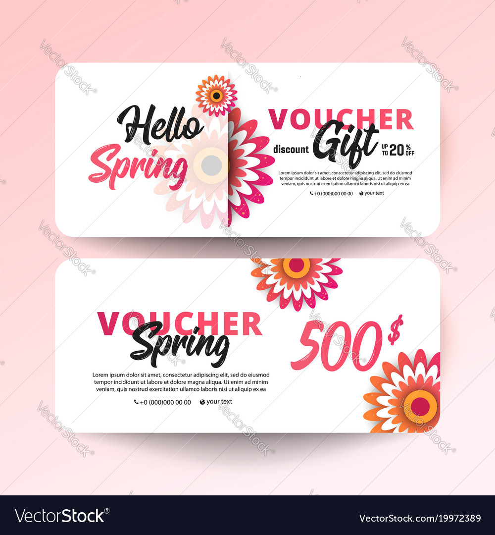 gift certificate coupon template vector image