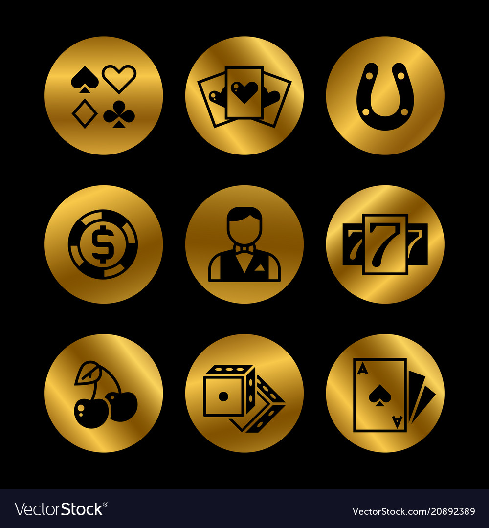 Gold and black lottery roulette casino slot
