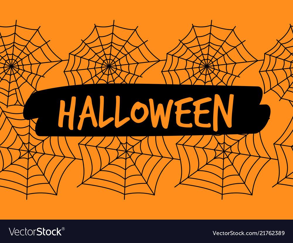 Halloween spiderweb seamless pattern