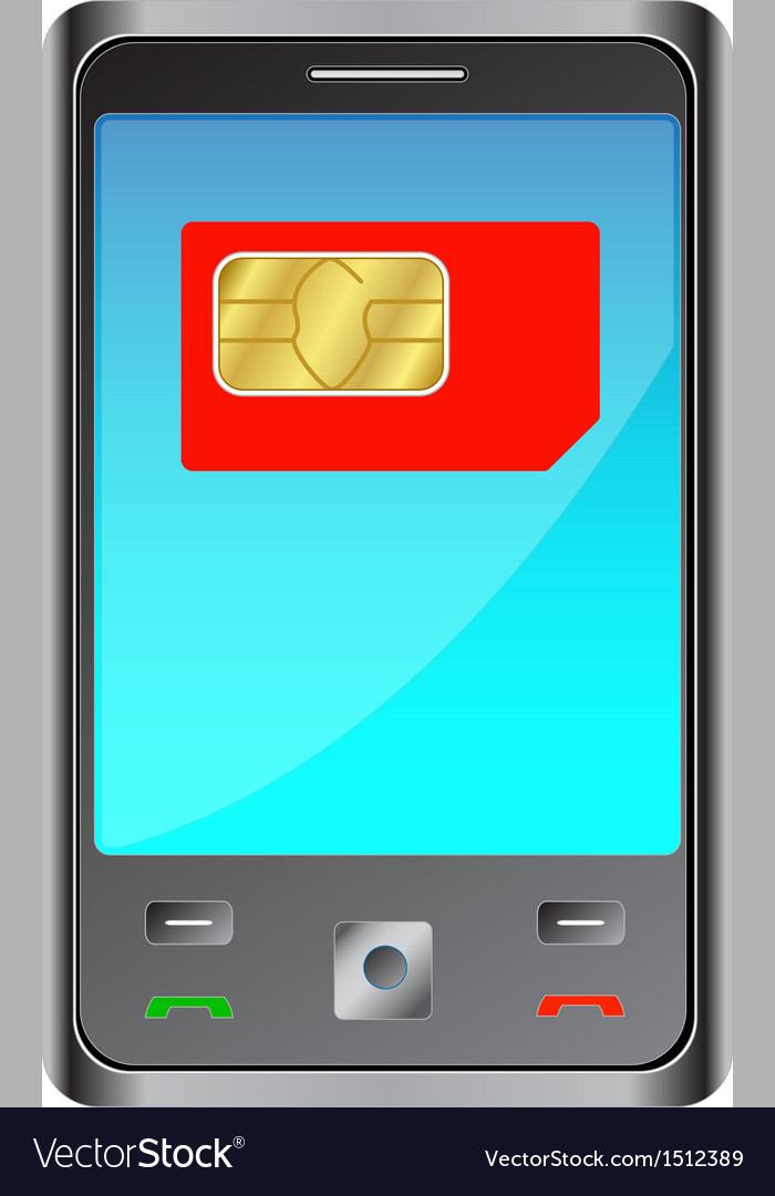 Mobile phone with red sim card