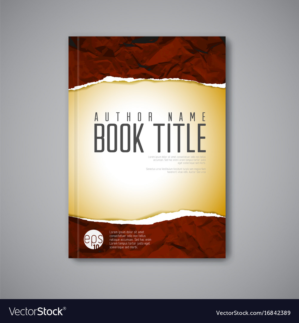 Book Cover Images Royalty Free : Modern abstract book cover template royalty free vector