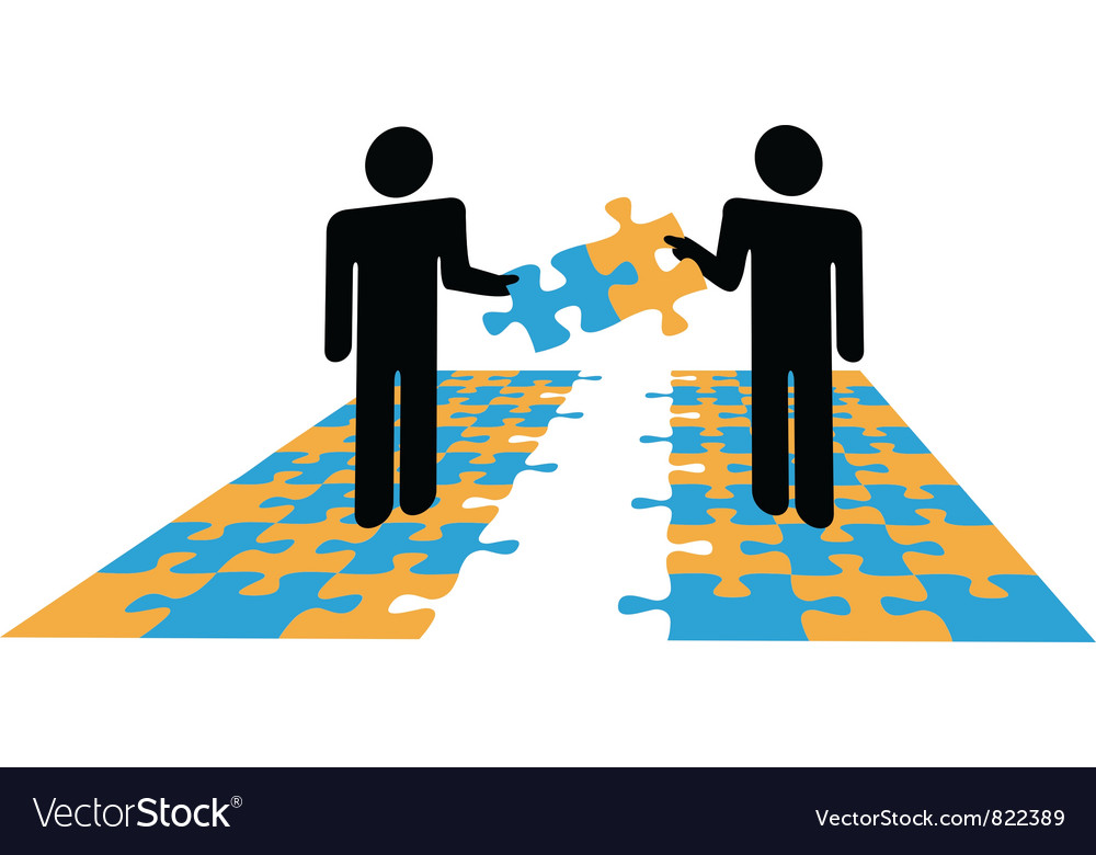 Puzzle solution collaboration vector
