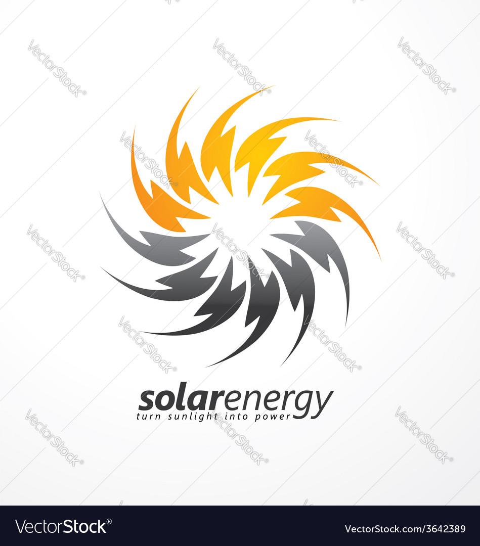 Solar energy logo design concept