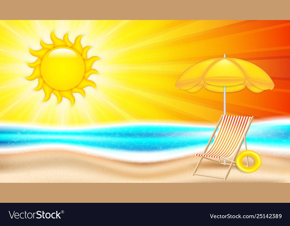 Summer holiday in seashore