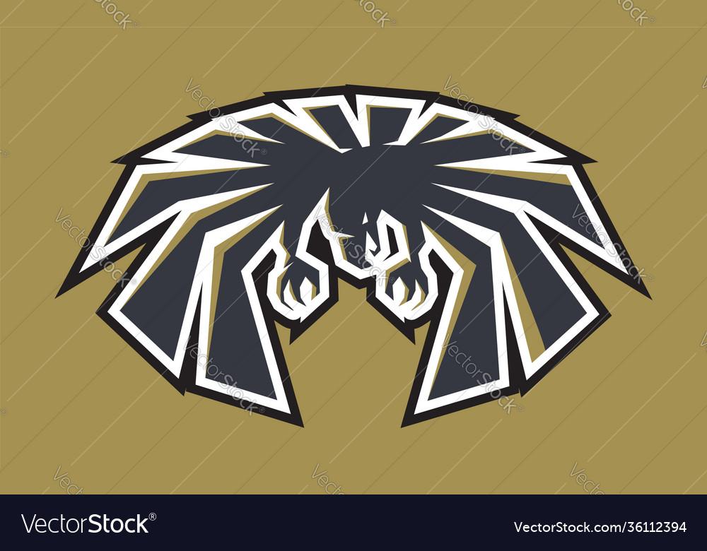 Emblem american eagle for sport college team logo