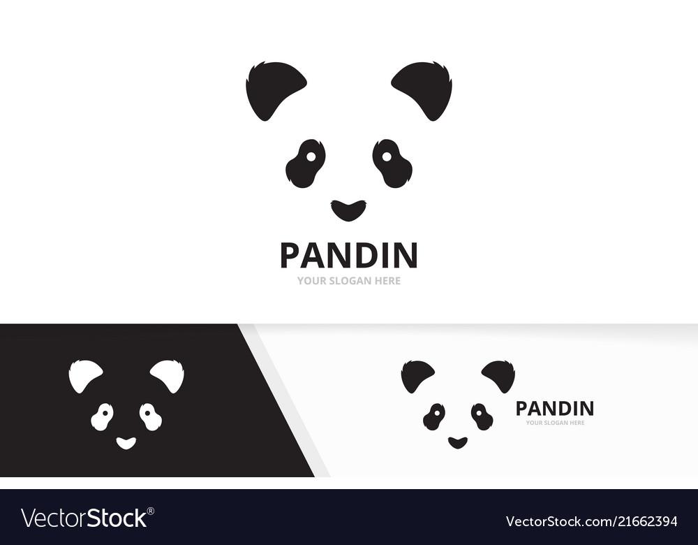 Panda logo combination animal and nature