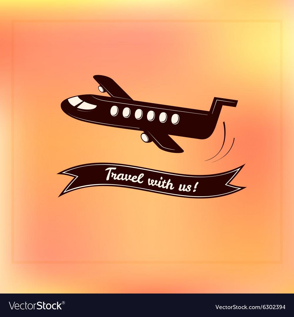 Travel logo label typography design