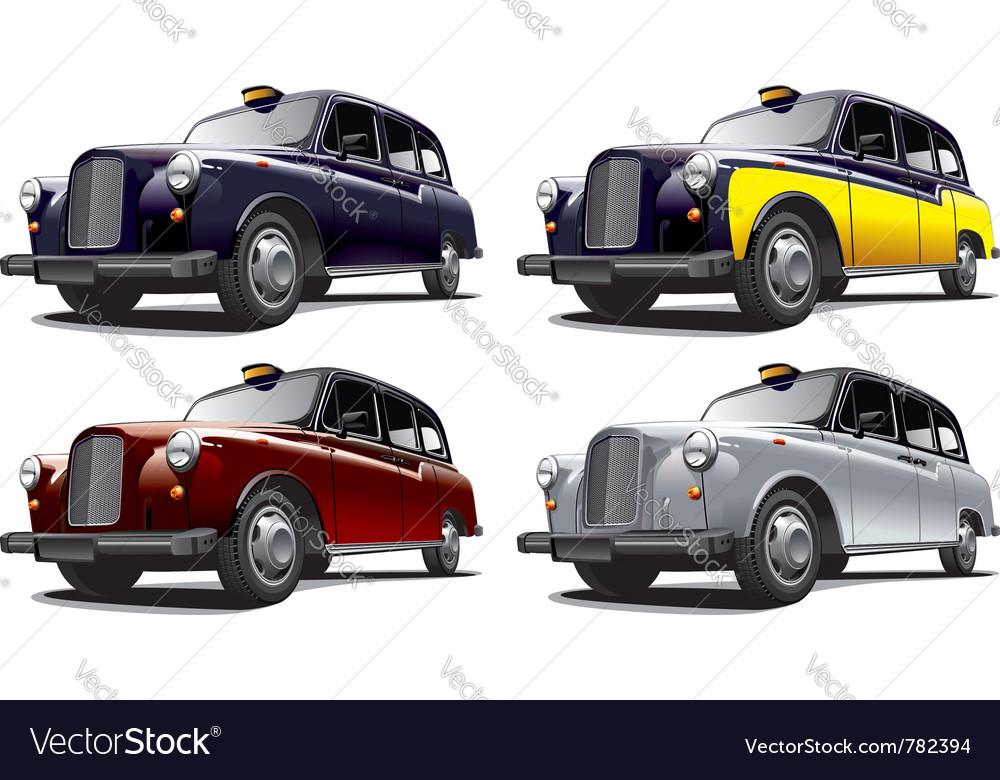 Vintage london taxi cab