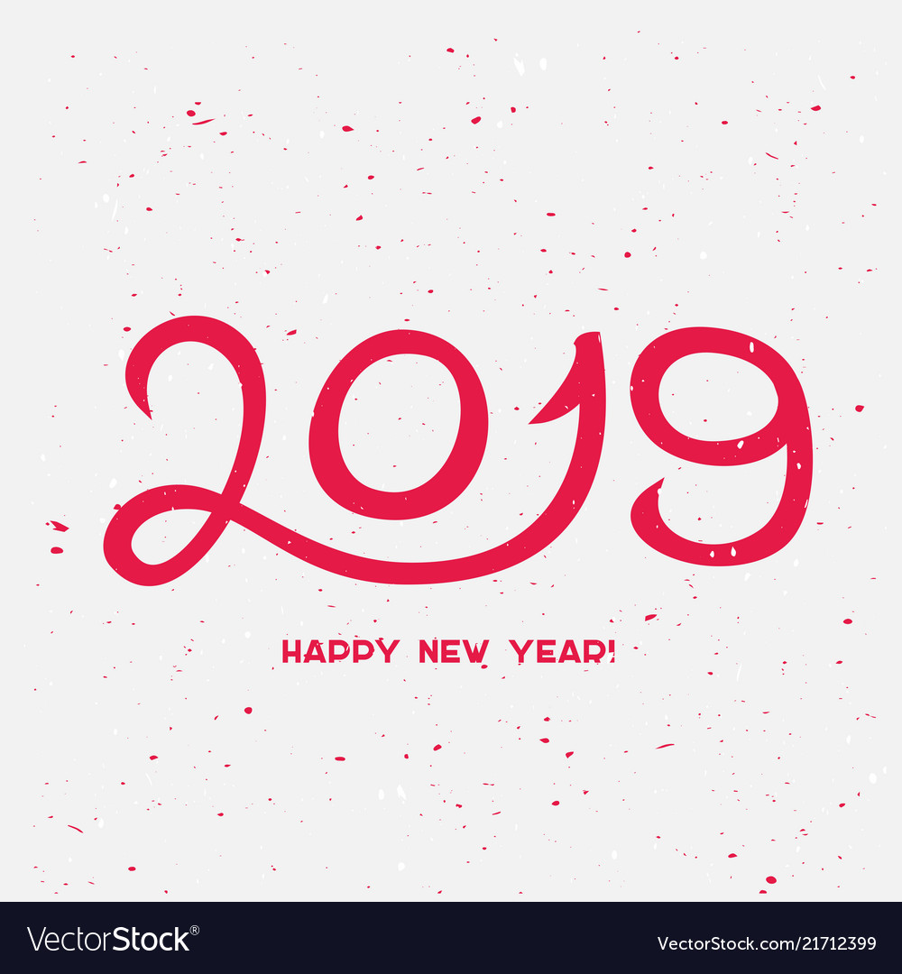 2019 happy new year with confetti happy new year